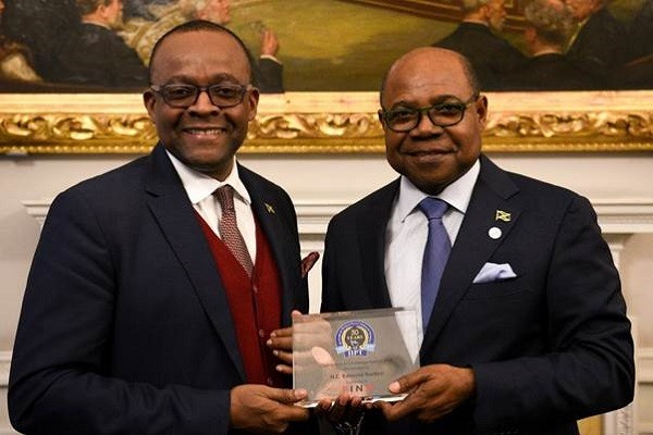 Minister Bartlett Wins International Institute for Peace through Tourism Champions in Challenge Award